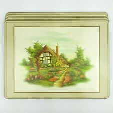 Pimpernel English Cottages Placemats Cork Backed Set of 4