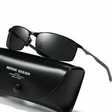 Herren Fahren Sonnenbrille Polarisiert 100% UV400 Schutz Sportbrille Schwarz