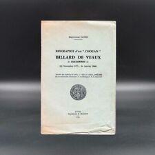Biographie d'un chouan Billard de Veaux - Maryvonne David