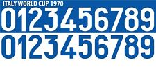 Italy World Cup 1970 Away / Home Football Shirt Nameset Any Number