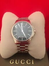 100% AUTHENTIC NEW GUCCI YA126316 WATCH WITH BOX AND BOOKLET 126GL COLLECTION