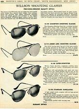 1963 Print Ad of Wilson Willsonite Shooting Glasses G100 G110 Hunting G180 G190