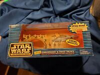 STAR WARS EPISODE 1 GIAN SPEEDER+THEED PALACE SNEAK PREVIEW SET GALOOB 1998****