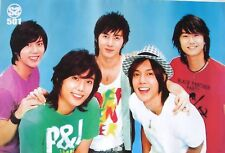 """SS501 """"GROUP IN FRONT OF BLUE BACKGROUND"""" ASIAN POSTER - Korean K-Pop Music"""