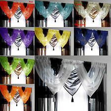 Tassled Voile Curtain Swags All Colours FREE P&P