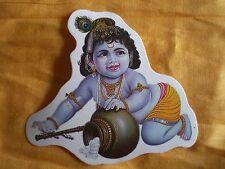 Aufkleber goa psy hippie sticker indien Inde Krishna Govinda ethno gott yoga om