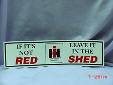 (2) International Harvester Bumper Stickers with Ih Logo