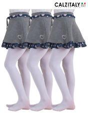 3 Pairs Girls Tights, Children School Uniform Pantyhose, Tights Teen 40 Den