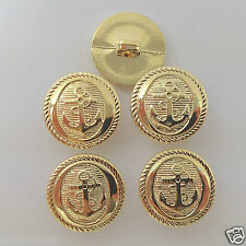 5 x anchor sailor military buttons silver or gold colour 15mm 18mm & 21mm
