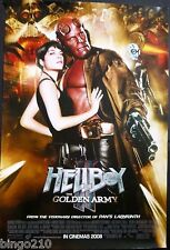 HELLBOY 2 THE GOLDEN ARMY  POSTER RON PERLMAN SELMA BLAIR GUILLERMO DEL TORO