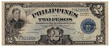 1944 (TWO PESO ) VICTORY (SILVER CERTIFICATE) BLUE (PHILIPPINES- US) **Wartime