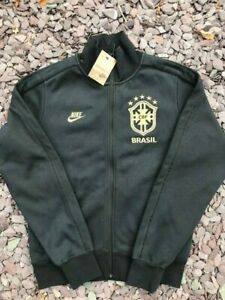 Mens Nike x Brazil Full Zip Bonded Embroidered Track Top Black Small. RRP £69.99