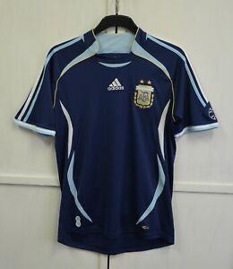 Argentina Team 2006/2007 Away Football Shirt Soccer Jersey Adidas Men's Size M
