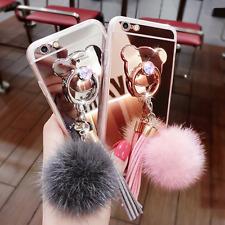Handy Hülle Neu Luxus Diamant Glitzer Spiegel Stent Für Smartphone Etui Tasche