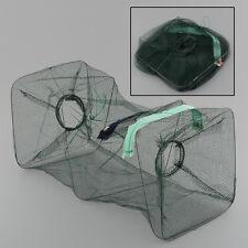Crab Fish Lobster Shrimp Minnow Fishing Bait Cast Net Cage Trap Foldable