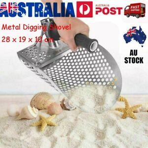 Metal Detector Tool Underwater Beach Sand Scoop Stainless Steel Digging Shovel