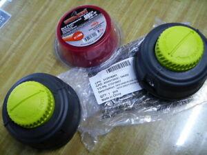 TWO GENUINE RYOBI 313318001 BUMP & FEED HEAD 530455001, 311759012, 530455002