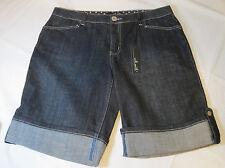 Willi Smith denim Bermuda 10 womens dark blue shorts jeans NEW NWT