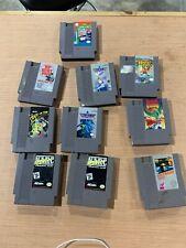 Lot Of 10 Nes Game Cartridges Metroid Top Gun Narc