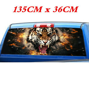 Truck Car Rear Window Windshield Flame Tiger Head Graphics Vinyl Decal Stickers
