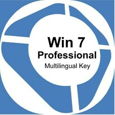Windows 7 Pro - Original Product Key for system 32 and 64 bit - Multilingual
