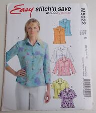 McCall's Sewing Pattern Misses Tops Blouses Sizes 10 - 16