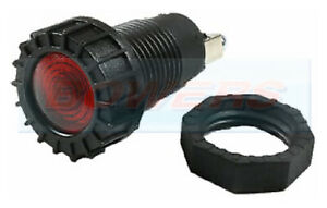 RED CLASSIC CAR DASH BOARD PANEL WARNING LIGHT LAMP 12V 18MM HOLE