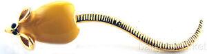 Moving Tail Yellow Enamel Tie Tack Hat Lapel Pin