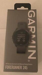 BRAND NEW Garmin Forerunner 245 GPS Running Watch Slate Gray Smartwatch