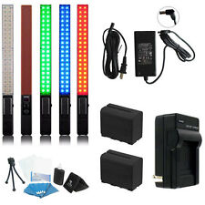 Yongnuo YN360 LED Video Light 5500K RGB Full Color PRO KIT W/ AC adapter 2 Bat +