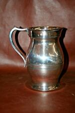 """Antique Wallace Silverplate 8"""" Water Pitcher - Etched: 'Smith 25th Anniversary'"""