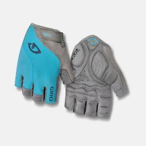 New Women's Giro Stradamassa Supergel Cycling Bike Gloves LARGE Blue / Gray