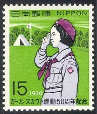GIAPPONE 1970 Girl Scout/Guide/Scout/Guida/CAMP/gioventù/tempo libero 1v (n25536)