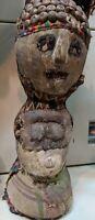 AFRICAN FETISH ORIGINAL WOOD POWER FIGURE VERY RARE TEMNE SIERRA LEONE AFRICA