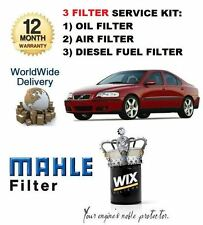 Para Volvo S60 2.4 D Diesel 2001 - & gt Service Set Aceite Aire Combustible (diesel) Filter Kit