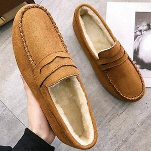Mocasines De Mujer Que Cosen Zapatos De Moda Casuales De Invierno Felpa Cortos