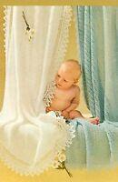 "Baby Shawls Knitting Patterns ""Ridged Eyelet"" and ""Garter Stitch"" 3ply  880"