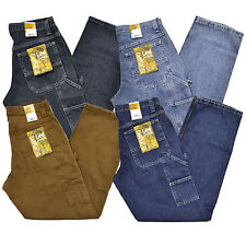 Lee Jeans Mens Dungarees Carpenter Straight Leg Pant Denim Trousers Stonewashed