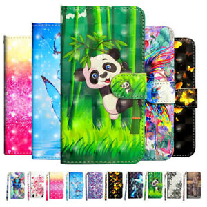 For Xiaomi Mi A1 A2 A3 Lite Magnetic Flip PU Leather Painted Wallet Case Cover