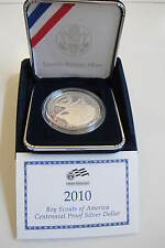 2010 BOY SCOUTS of AMERICA PROOF SILVER DOLLAR, PERFECT, OUT OF MINT BOX