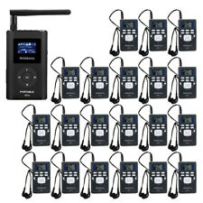 Wireless Tour Guide System Transmitter+20*Receiver+Microphone for Meeting/Church