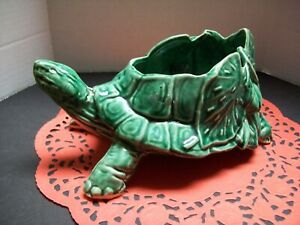 Vintage McCoy Green Turtle Planter