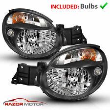 2002-2003 Black Headlight Pair For Subaru Impreza Wrx Outback Gd Bug Eye w/Bulbs (Fits: Subaru)