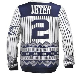 Derek Jeter Ugly Christmas Sweater Forever Official MLB New With Tags (Medium)