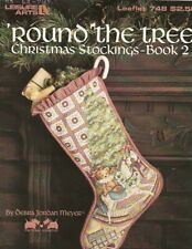 Vintage 1989 'Count the Tree Christmas Stocking Cross Stitch Chart -Leisure Arts