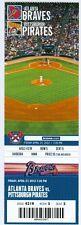 2012 Braves vs Pirates Ticket: Tommy Hanson win/Kris Medlen 1st MLB Save