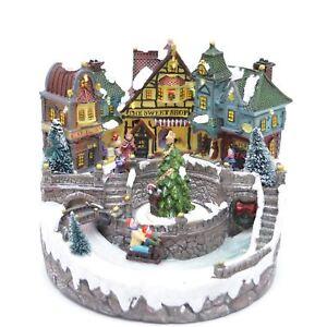 Christmas Swee Decoration Nativity Shop Musical LED Sculpture Home Centerpiece