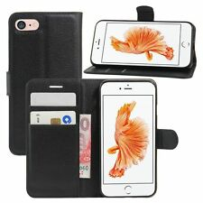 Real Leather Flip Wallet Slim Case Cover for iPhone 6 6s