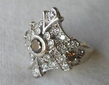 Art Deco 14K White Gold Fancy Diamond Ring - 8.1 grms, Size 6.75, 1.08 ctw