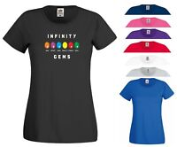 Infinity Gems T Shirt Black Panther Avengers Infinity War Marvel Gift Women Top